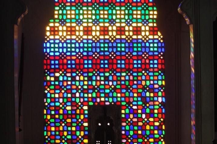 Glass window at Bagore ki Haveli