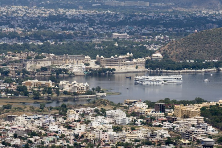lake pichola from the monsoon palace